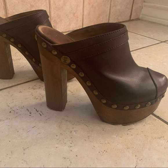 CHANEL Shoes - CHANEL Leather Mules/Clogs